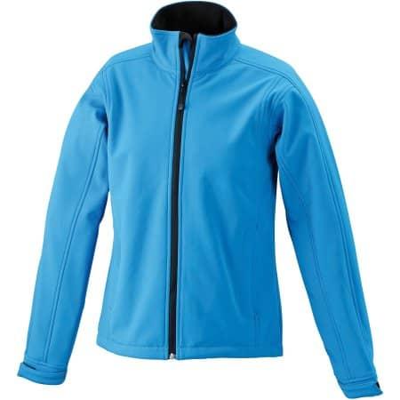 Ladies` Softshell Jacket JN137 in Aqua von James+Nicholson (Artnum: JN137