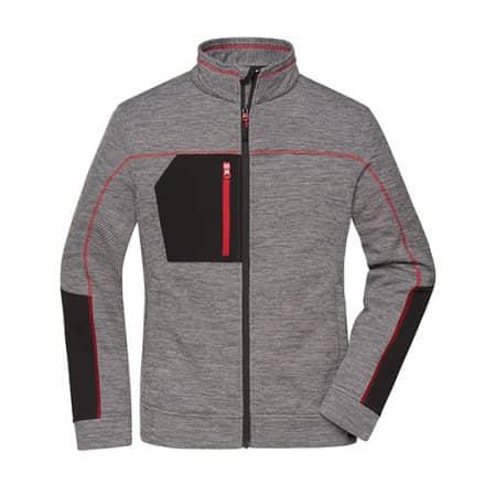 Ladies` Structure Fleece Jacket von James+Nicholson (Artnum: JN1817