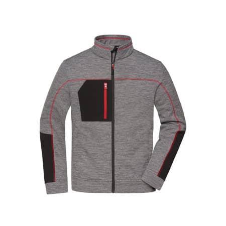 Men`s Structure Fleece Jacket von James+Nicholson (Artnum: JN1818