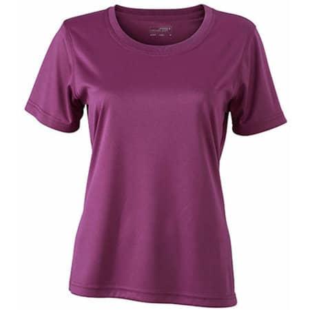 Ladies` Active-T in Purple von James+Nicholson (Artnum: JN357