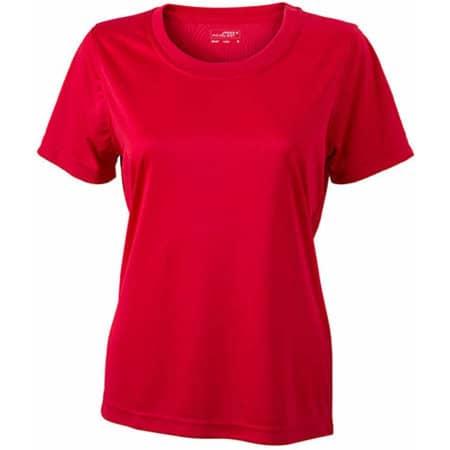 Ladies` Active-T in Red von James+Nicholson (Artnum: JN357