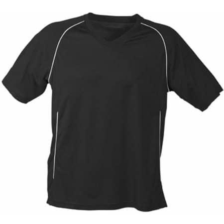 Team Shirt in Black|White von James+Nicholson (Artnum: JN386