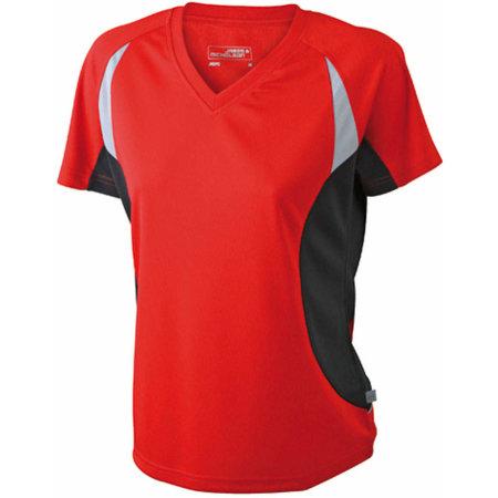 Ladies` Running-T 390 in Red|Black von James+Nicholson (Artnum: JN390