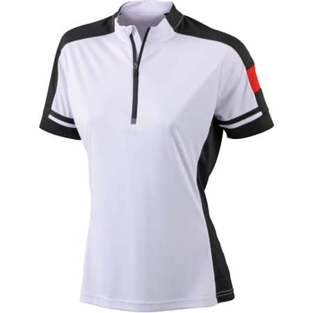 Ladies` Bike-T Half Zip von James+Nicholson (Artnum: JN451