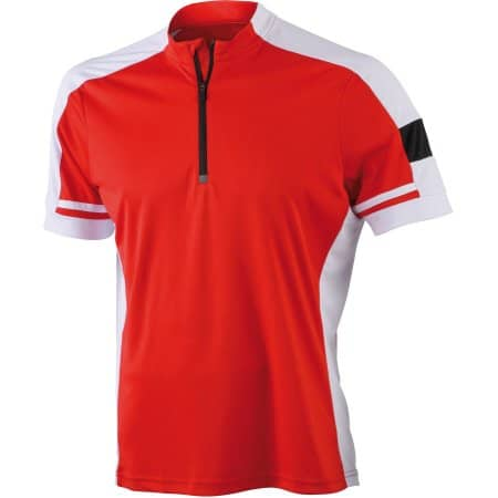 Men`s Bike-T Half Zip von James+Nicholson (Artnum: JN452