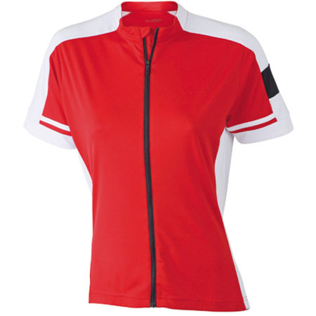 Ladies` Bike-T Full Zip in Red von James+Nicholson (Artnum: JN453