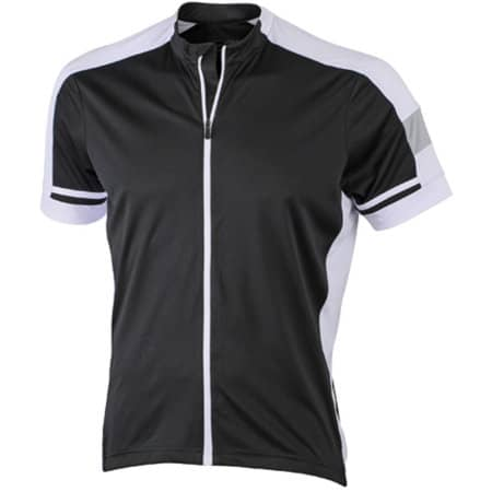 Men`s Bike-T Full Zip in Black von James+Nicholson (Artnum: JN454
