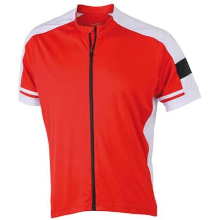 Men`s Bike-T Full Zip in Red von James+Nicholson (Artnum: JN454