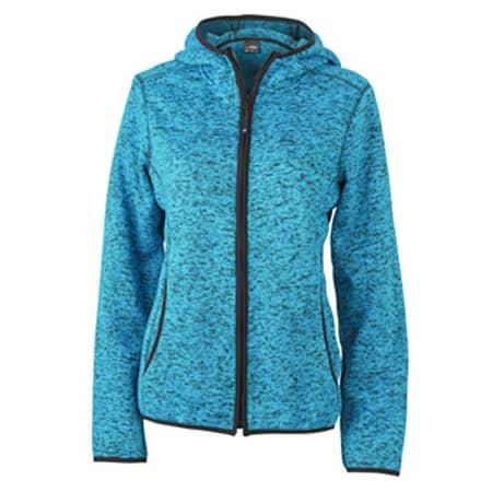 Ladies` Knitted Fleece Hoody von James+Nicholson (Artnum: JN588