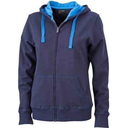 Ladies` Hooded Jacket 594 von James+Nicholson (Artnum: JN594