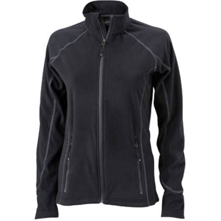 Ladies` Structure Fleece Jacket JN596 in Black|Carbon von James+Nicholson (Artnum: JN596