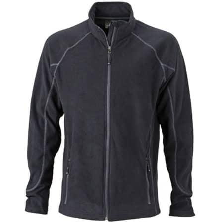 Men`s Structure Fleece Jacket JN597 in Black Carbon von James+Nicholson (Artnum: JN597