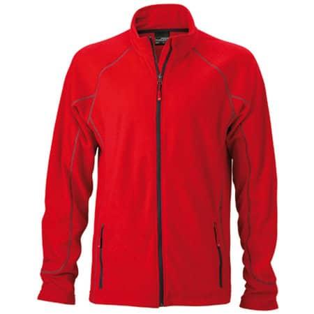 Men`s Structure Fleece Jacket in Red|Carbon von James+Nicholson (Artnum: JN597