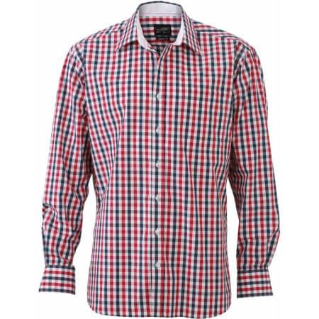 Men`s Checked Shirt von James+Nicholson (Artnum: JN617
