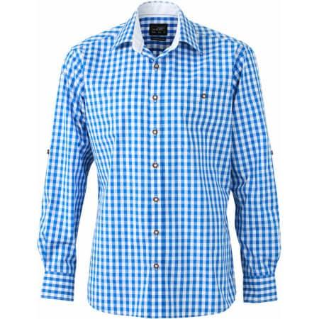 Men`s Traditional Shirt von James+Nicholson (Artnum: JN638