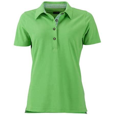 Ladies` Traditional Polo in Lime Green|Lime Green|White von James+Nicholson (Artnum: JN715