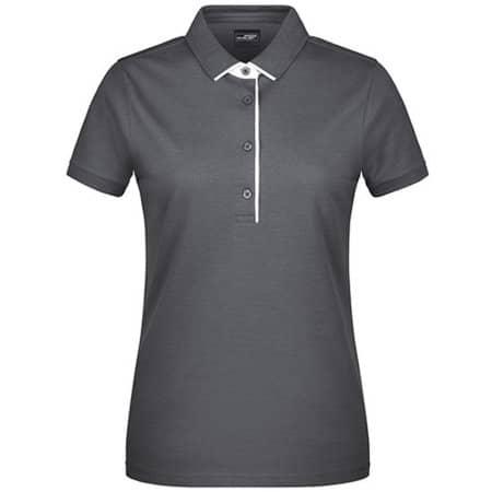 Ladies` Polo Single Stripe in Graphite (Solid)|White von James+Nicholson (Artnum: JN725