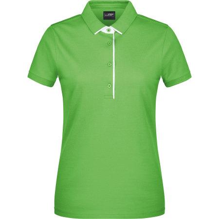 Ladies` Polo Single Stripe in Lime Green|White von James+Nicholson (Artnum: JN725