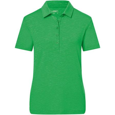 Ladies` Slub Polo in Fern Green von James+Nicholson (Artnum: JN751