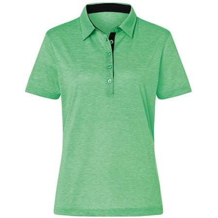 Ladies` Polo Bicolor in Fern Green|White von James+Nicholson (Artnum: JN753
