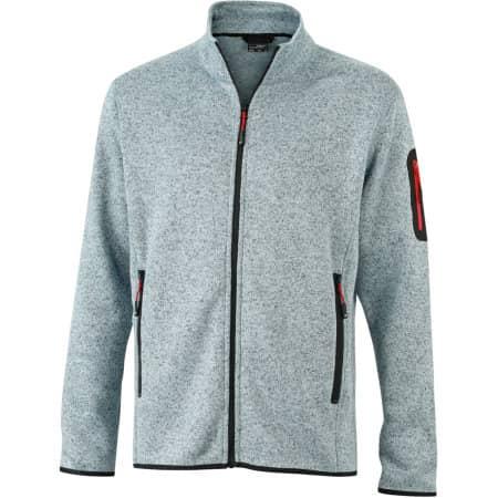 Men`s Knitted Fleece Jacket von James+Nicholson (Artnum: JN762