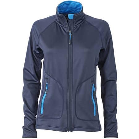 Ladies` Stretchfleece Jacket von James+Nicholson (Artnum: JN763