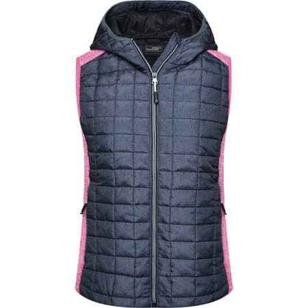 Ladies` Knitted Hybrid Vest von James+Nicholson (Artnum: JN767