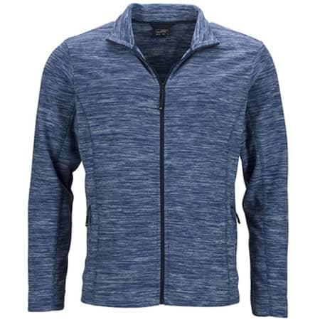 Men`s Fleece Jacket in Blue Melange|Navy von James+Nicholson (Artnum: JN770