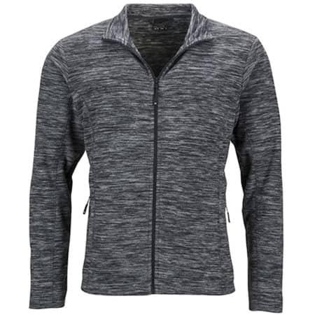 Men`s Fleece Jacket in Grey Melange Anthracite von James+Nicholson (Artnum: JN770