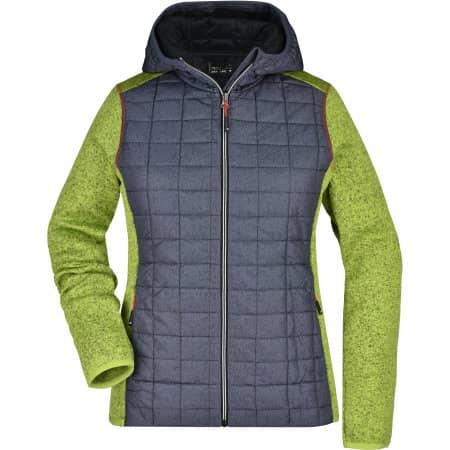 Ladies` Knitted Hybrid Jacket von James+Nicholson (Artnum: JN771
