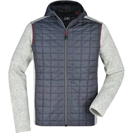 Men`s Knitted Hybrid Jacket von James+Nicholson (Artnum: JN772
