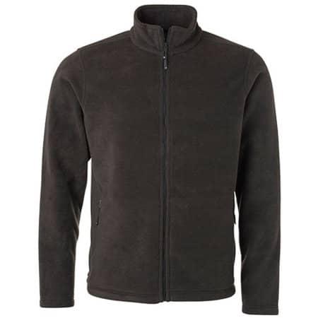Men`s Fleece Jacket JN in Dark Grey (Solid) von James+Nicholson (Artnum: JN782