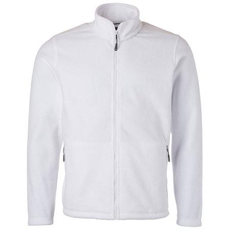 Men`s Fleece Jacket JN in White von James+Nicholson (Artnum: JN782