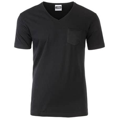 Men`s-T Pocket in Black von James+Nicholson (Artnum: JN8004