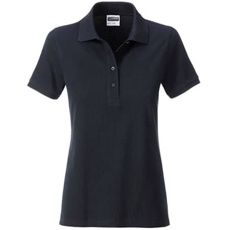 Ladies` Basic Polo in Black von James+Nicholson (Artnum: JN8009