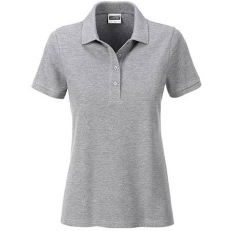 Ladies` Basic Polo in Grey Heather von James+Nicholson (Artnum: JN8009