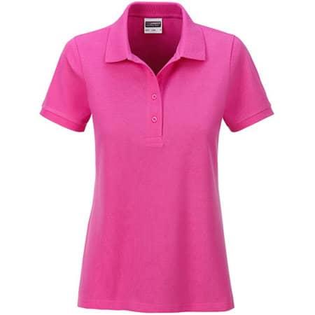 Ladies` Basic Polo in Pink von James+Nicholson (Artnum: JN8009