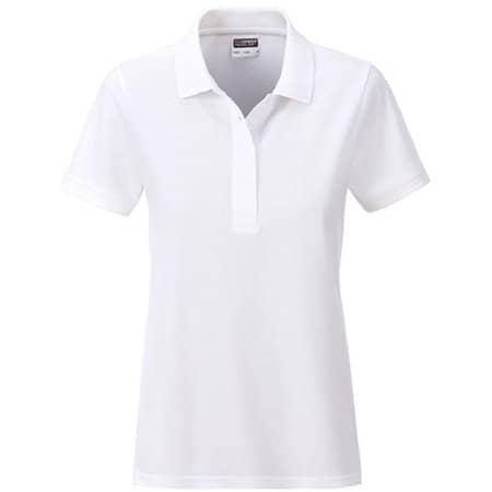 Ladies` Basic Polo in White von James+Nicholson (Artnum: JN8009
