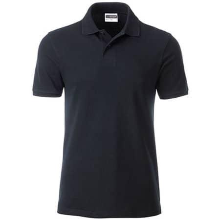 Men`s Basic Polo in Black von James+Nicholson (Artnum: JN8010