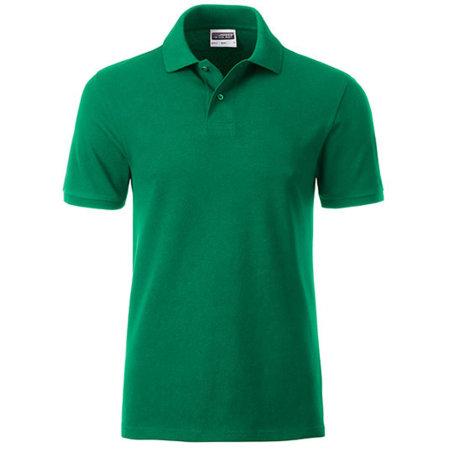 Men`s Basic Polo in Irish Green von James+Nicholson (Artnum: JN8010