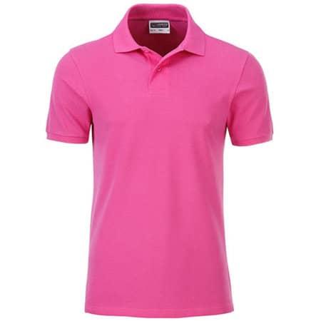 Men`s Basic Polo in Pink von James+Nicholson (Artnum: JN8010