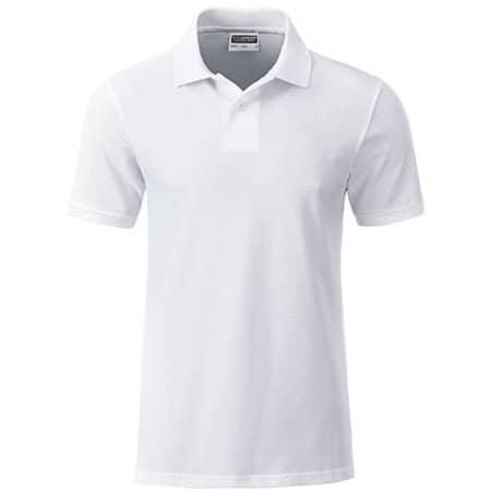Men`s Basic Polo in White von James+Nicholson (Artnum: JN8010