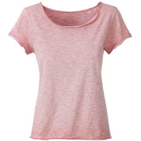 Ladies` Slub-T in Soft Pink von James+Nicholson (Artnum: JN8015