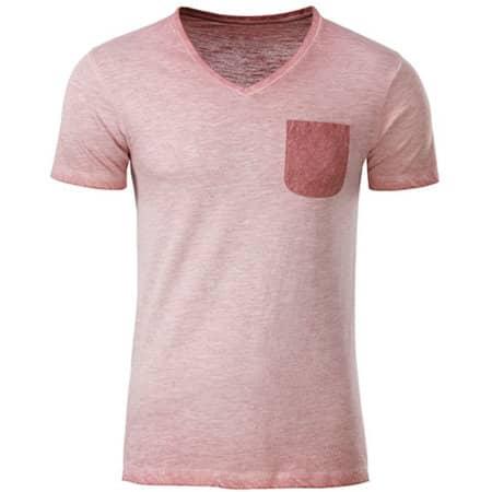 Men`s Slub-T in Soft Pink von James+Nicholson (Artnum: JN8016