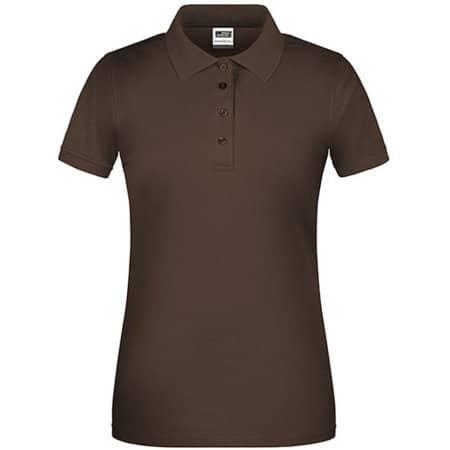 Ladies` Bio Workwear Polo in Brown von James+Nicholson (Artnum: JN873