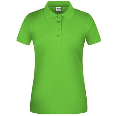 Ladies` Bio Workwear Polo in Lime Green von James+Nicholson (Artnum: JN873