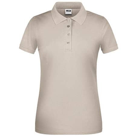 Ladies` Bio Workwear Polo in Stone von James+Nicholson (Artnum: JN873