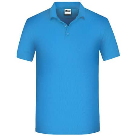 Men`s Bio Workwear Polo in Aqua von James+Nicholson (Artnum: JN874