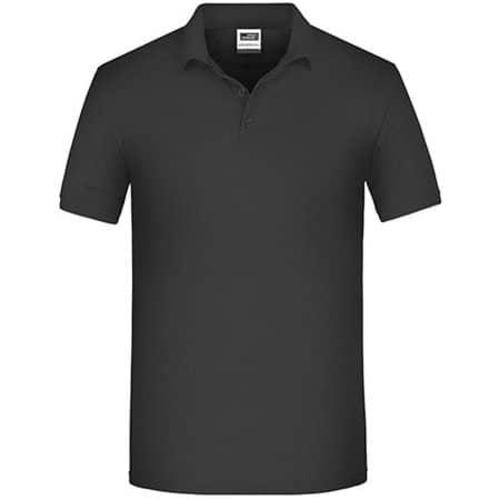Men`s Bio Workwear Polo in Black von James+Nicholson (Artnum: JN874