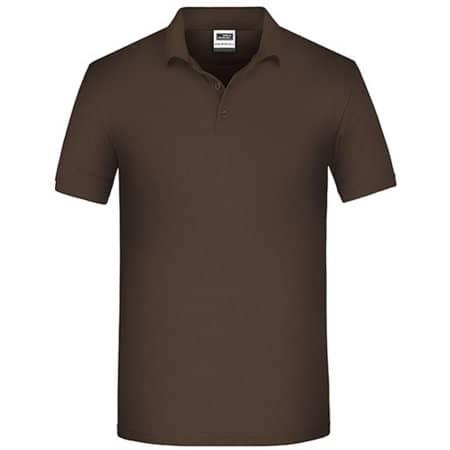 Men`s Bio Workwear Polo in Brown von James+Nicholson (Artnum: JN874